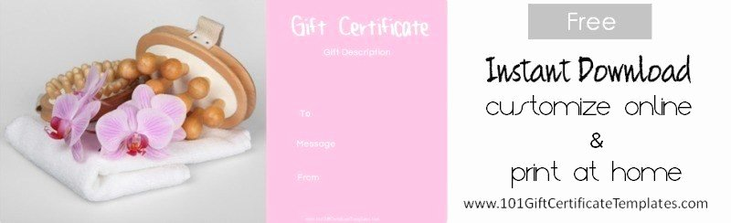 Free Spa Gift Certificate Template Printable Best Of Spa Gift Certificates