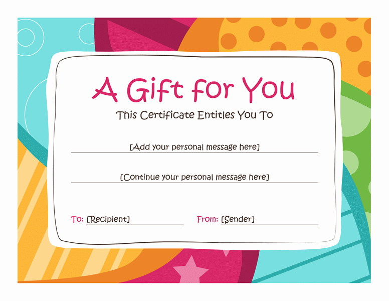 Free Spa Gift Certificate Template Printable Elegant Birthday T Certificate Template