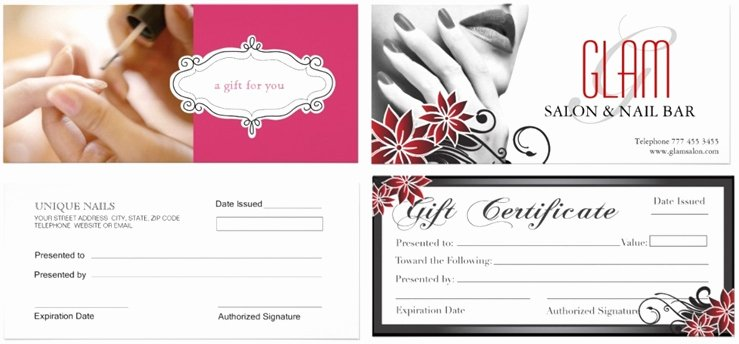 Free Spa Gift Certificate Template Printable Fresh Nail Salon Gift Certificate Good Nail Gift Certificate