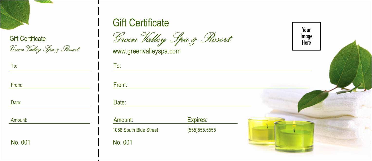 Free Spa Gift Certificate Template Printable Lovely Spa Logo Gift Certificate