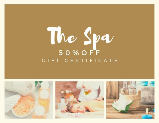 Free Spa Gift Certificate Template Printable Luxury Customize 89 Spa Gift Certificate Templates Online Canva