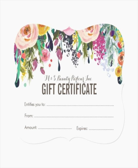 Free Spa Gift Certificate Template Printable Unique Modest Free Printable Gift Certificates for Hair Salon