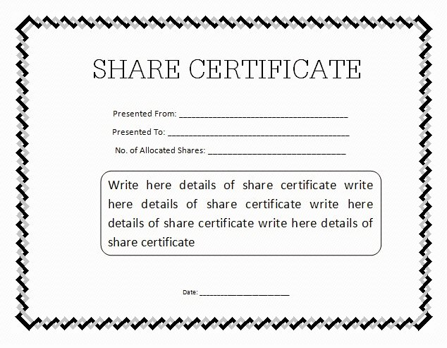 Free Stock Certificate Template Download Awesome 10 Certificate Templates