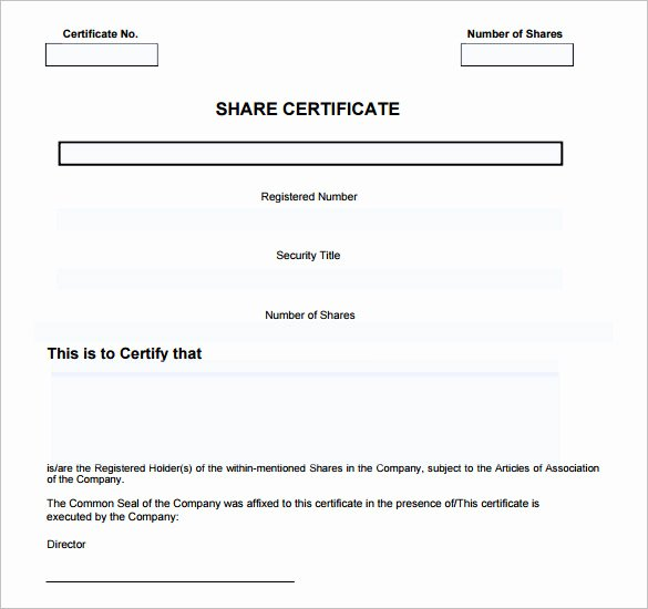 Free Stock Certificate Template Download Beautiful Certificate Template Uk