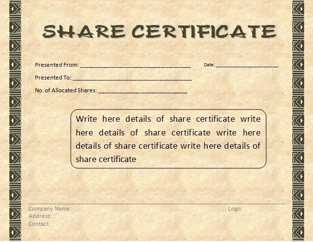 Free Stock Certificate Template Download Lovely Certificate Templates