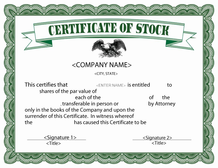 Free Stock Certificate Template Download Luxury 40 Free Stock Certificate Templates Word Pdf