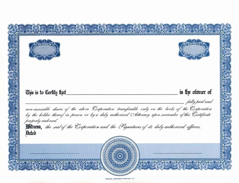 Free Stock Certificate Template Download Unique 13 Stock Certificate Templates Excel Pdf formats