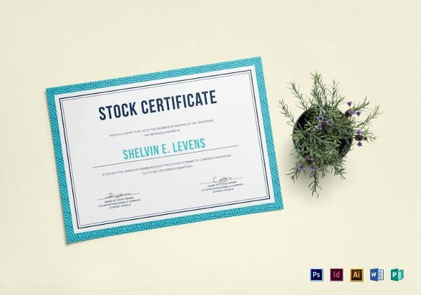 Free Stock Certificate Template Microsoft Word Elegant Free 6 Sample Stock Certificate Templates In Google Docs