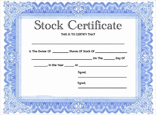 Free Stock Certificate Template Microsoft Word Inspirational Stock Certificate Template Free In Word and Pdf