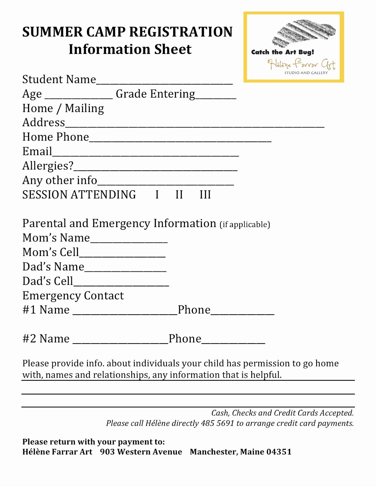 Free Summer Camp Registration form Template Fresh Registration form Template
