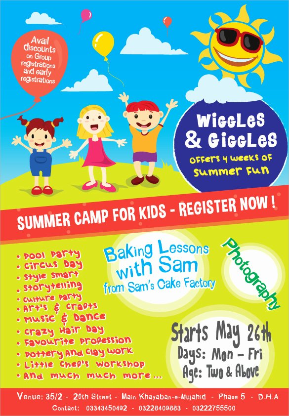 Free Summer Camp Registration form Template Inspirational 17 Summer Camp Flyer Templates Word Psd Ai Eps Vector