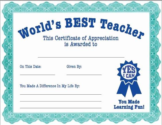 Free Teacher Appreciation Certificates Best Of Teacher Appreciation Certificate From the Pto today File