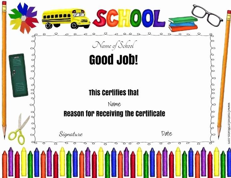 Free Teacher Appreciation Certificates Fresh 8 Best Perfect attendance Images On Pinterest