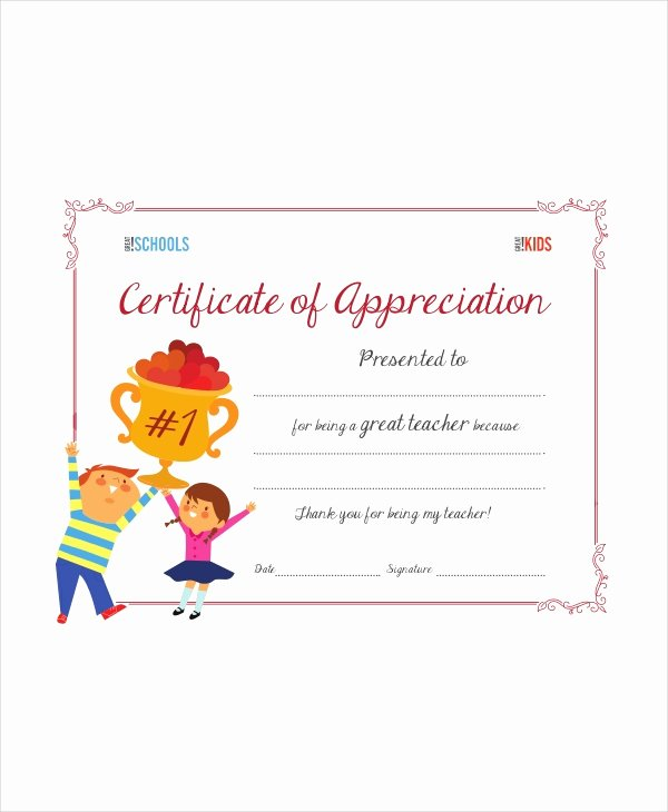 Free Teacher Appreciation Certificates Fresh Award Template 4 Free Pdf Documents Download