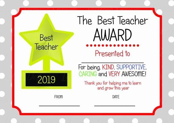 Free Teacher Appreciation Certificates Inspirational Printable Teacher Appreciation Certificate Teacher