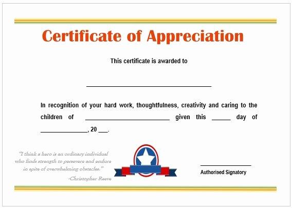 Free Teacher Appreciation Certificates Luxury Image Result for Certificate Of Appreciation for Best