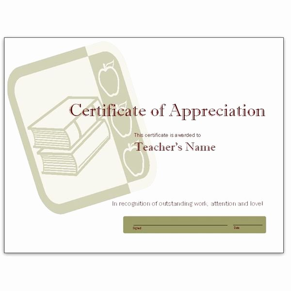 Free Teacher Appreciation Certificates New Free Teacher Appreciation Certificates Download Word and