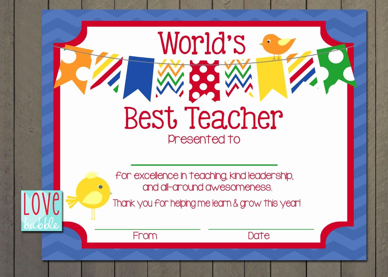 Free Teacher Appreciation Certificates New Teacher Appreciation Certificate End Of the Year Class