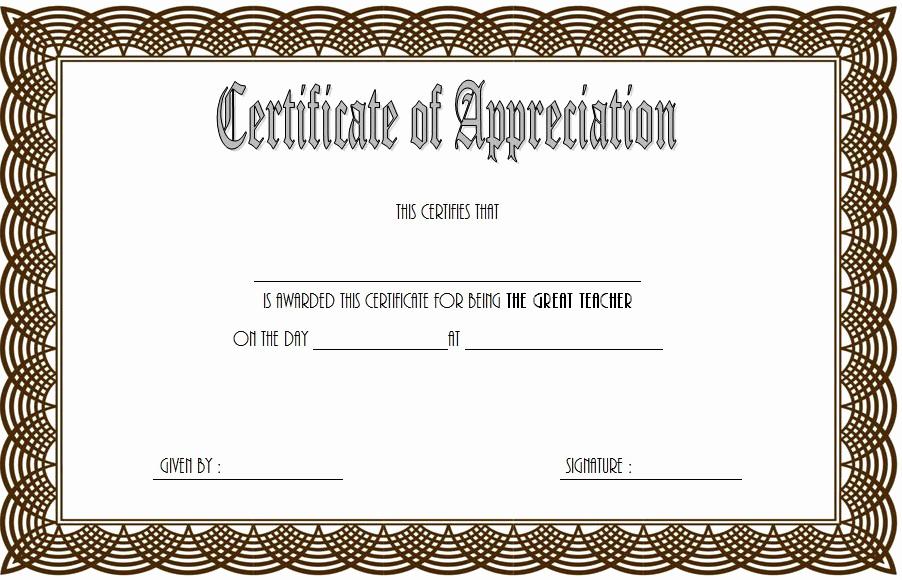 Free Teacher Appreciation Certificates New Teacher Appreciation Certificate Free Printable 10 Designs