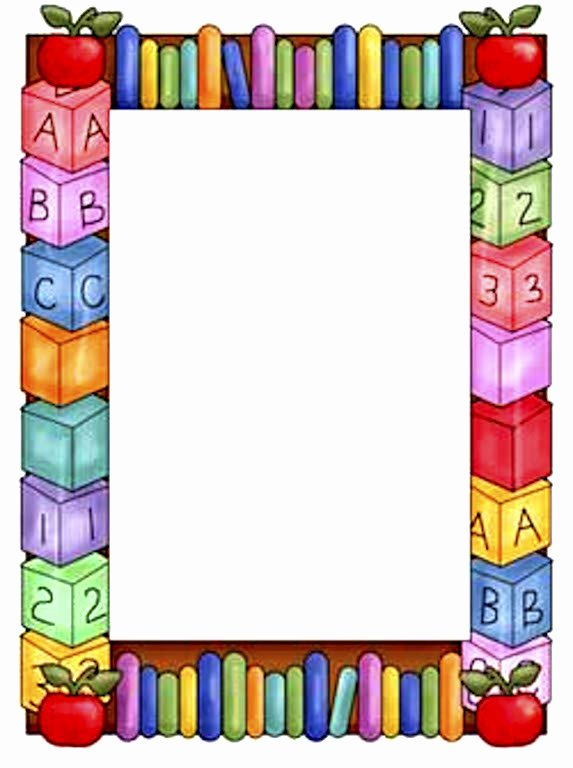 Free Teacher Borders for Word Documents Luxury School Clipart Borders and Frames – 101 Clip Art