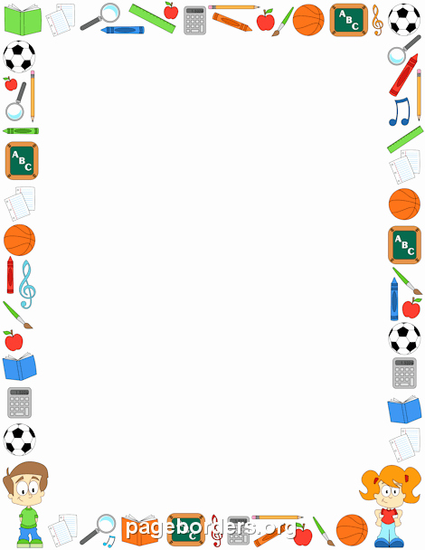 Free Teacher Borders for Word Documents New Classroom Border Clip Art Page Border and Vector Graphics