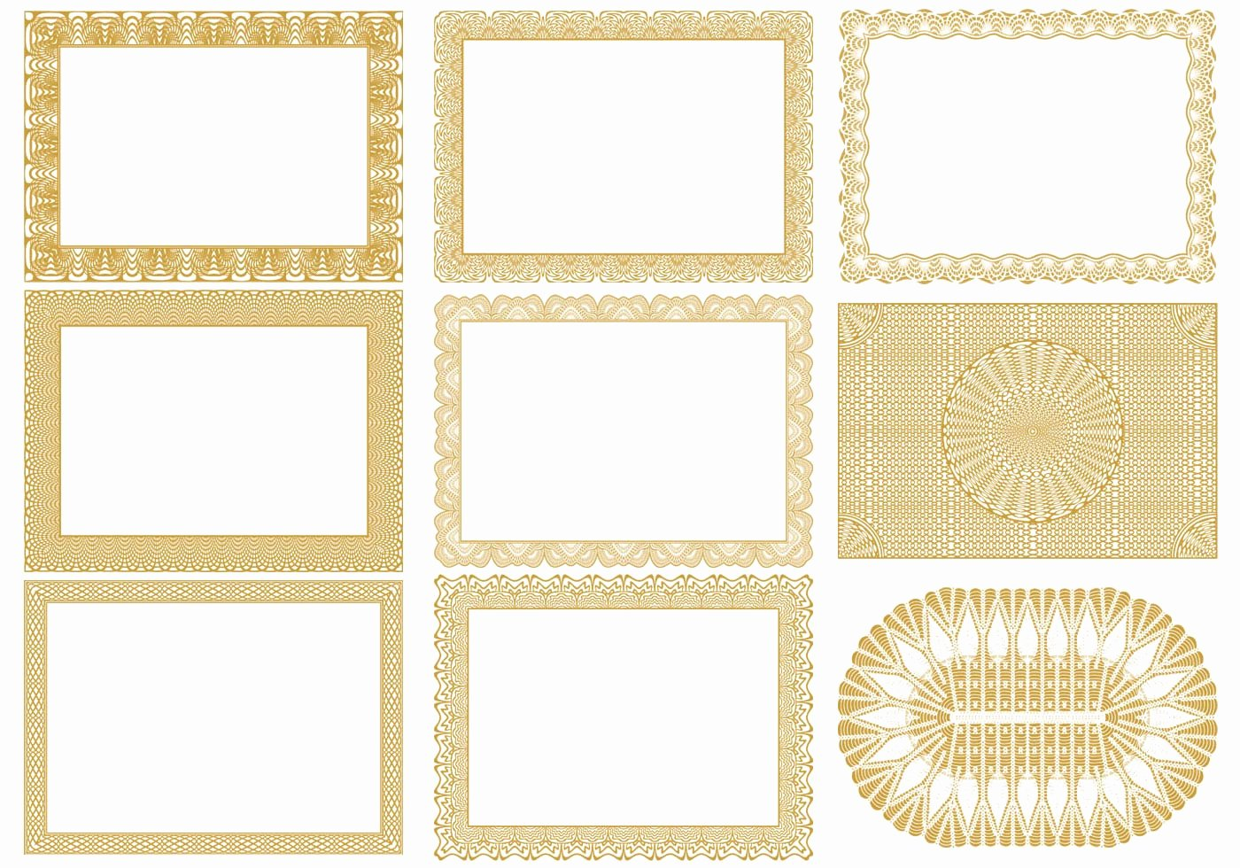 Free Vector Certificate Borders Lovely Certificate Border Vectors Pack Download Free Vector Art