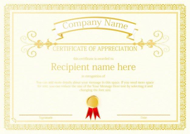 Free Vector Certificate Borders Luxury Certificate Border Template Vector