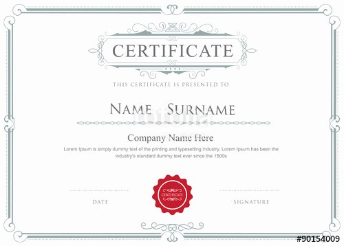 "Free Vector Certificate Borders New ""certificate Border Vector Elegant Flourishes Template"