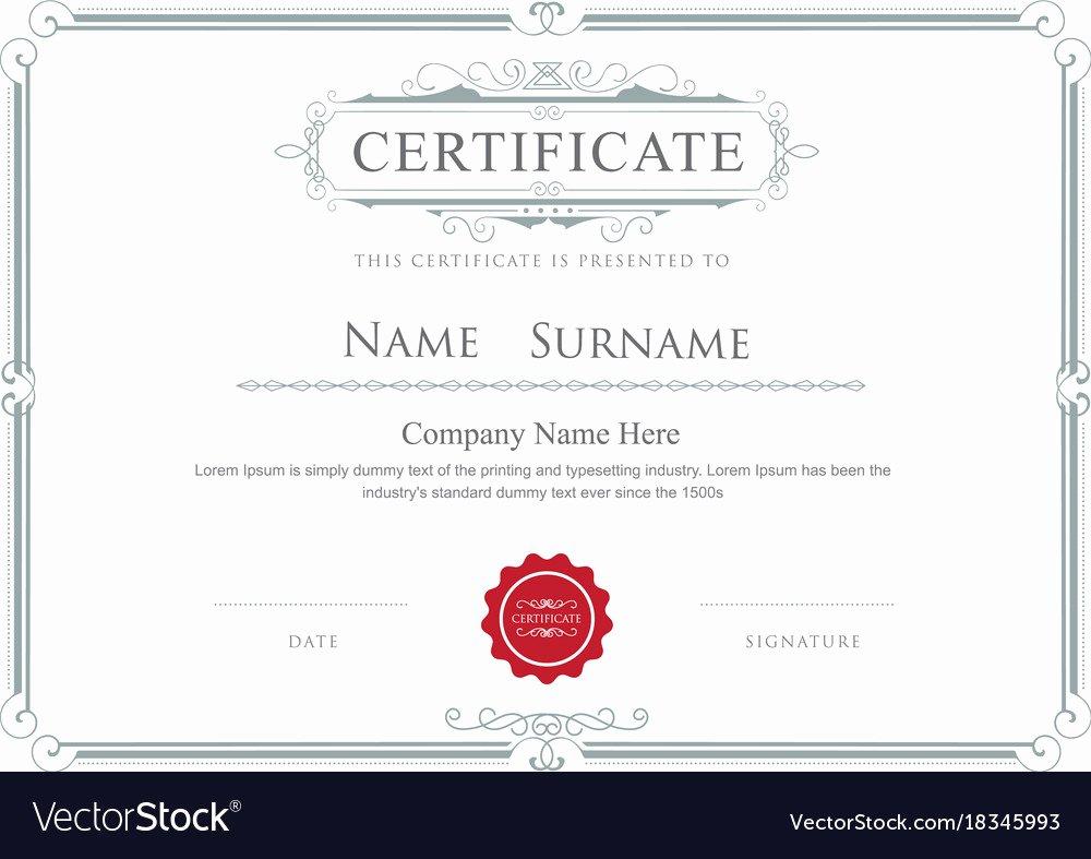 Free Vector Certificate Borders Unique Certificate Border Elegant Flourishes Template Vector Image