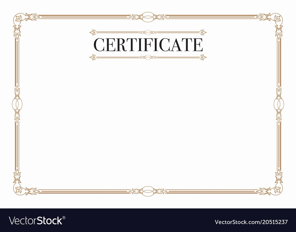 Free Vector Certificate Borders Unique Certificate Border for Excellence Performance Vector Image