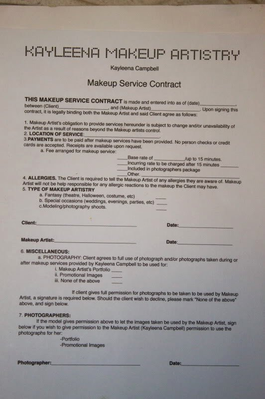 Freelance Makeup Contract Template Unique How to Protect Yourself as A Makeup Artist