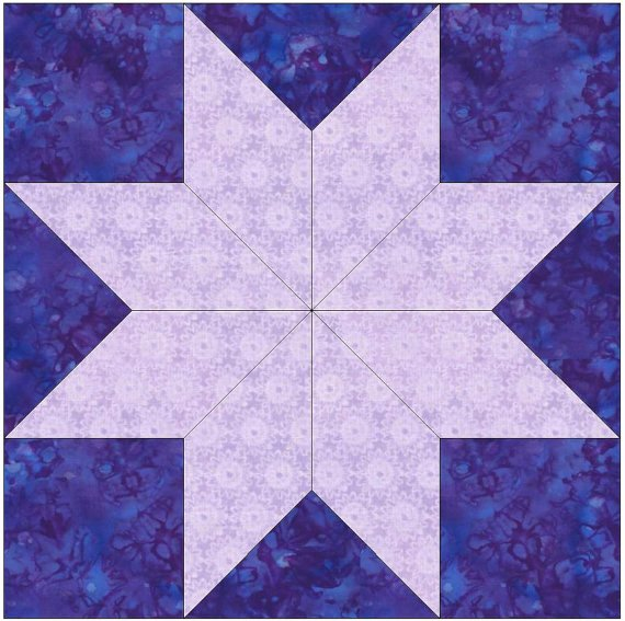 Full Page Star Template Awesome 8 Pointed Star Paper Piece Foundation Quilting Block Pattern