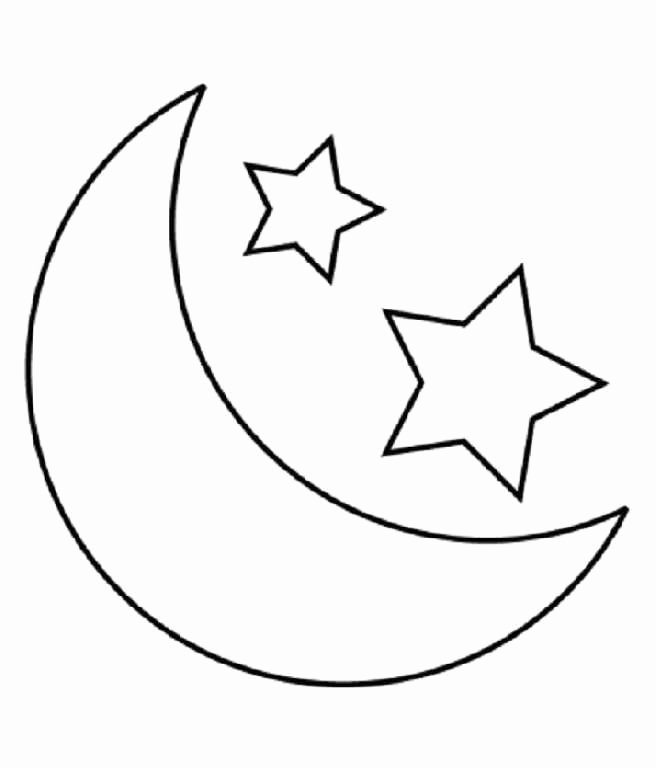 Full Page Star Template Awesome Child Moon and Stars Coloring Pages Printable