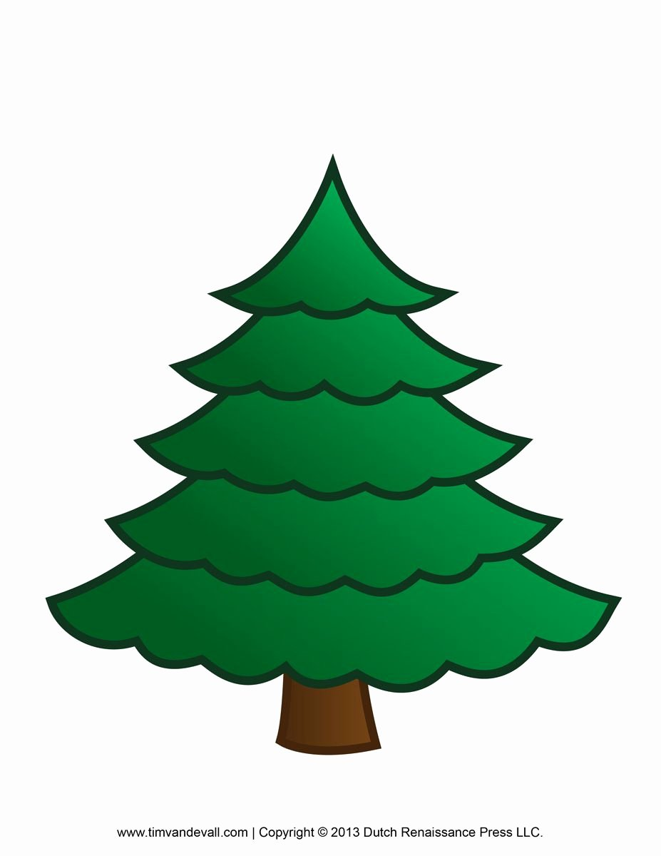 Full Page Star Template Awesome Christmas Tree Clipart