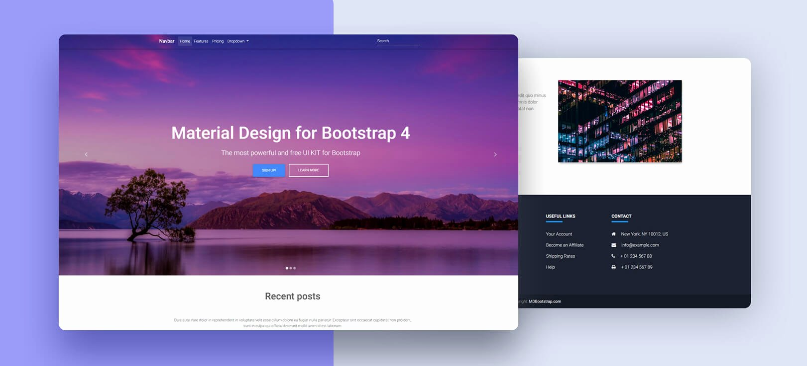 Full Page Star Template Fresh Full Page Image Carousel Material Design for Bootstrap