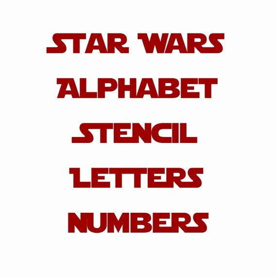 Full Page Star Template Fresh Star Wars Stencil Font Full Alphabet and Letters Template