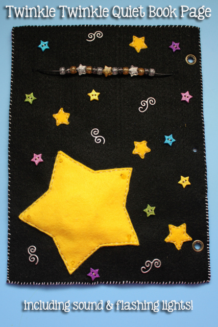 Full Page Star Template Lovely Quiet Book Twinkle Twinkle Little Star Page Tutorial