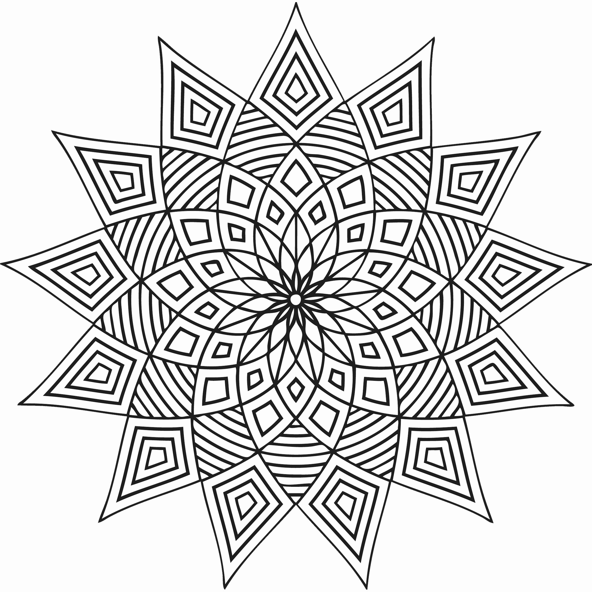 Full Page Star Template Unique Free Printable Geometric Coloring Pages for Kids