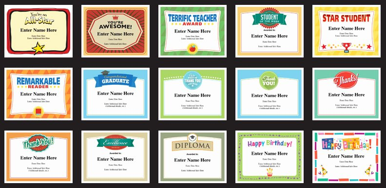 Fun Awards for Students Inspirational Students Certificates Templates Free Award Certificates