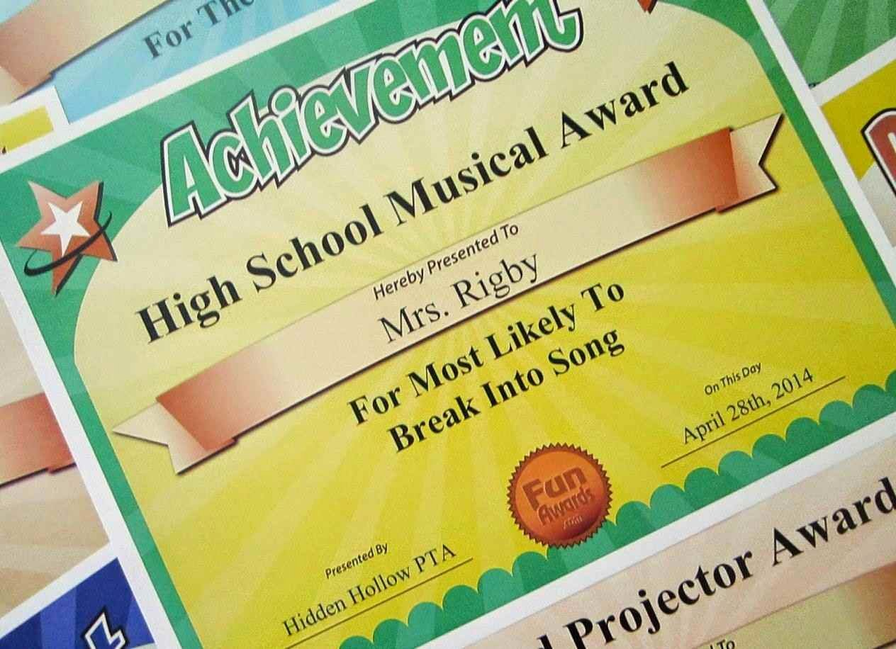 Fun Awards for Students Lovely Funny Employee Awards Ideas Free Template Update234