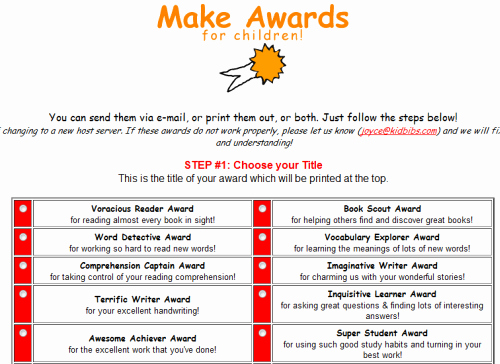 Fun Awards for Students Luxury Great Websites for Funny End Year School Awards for