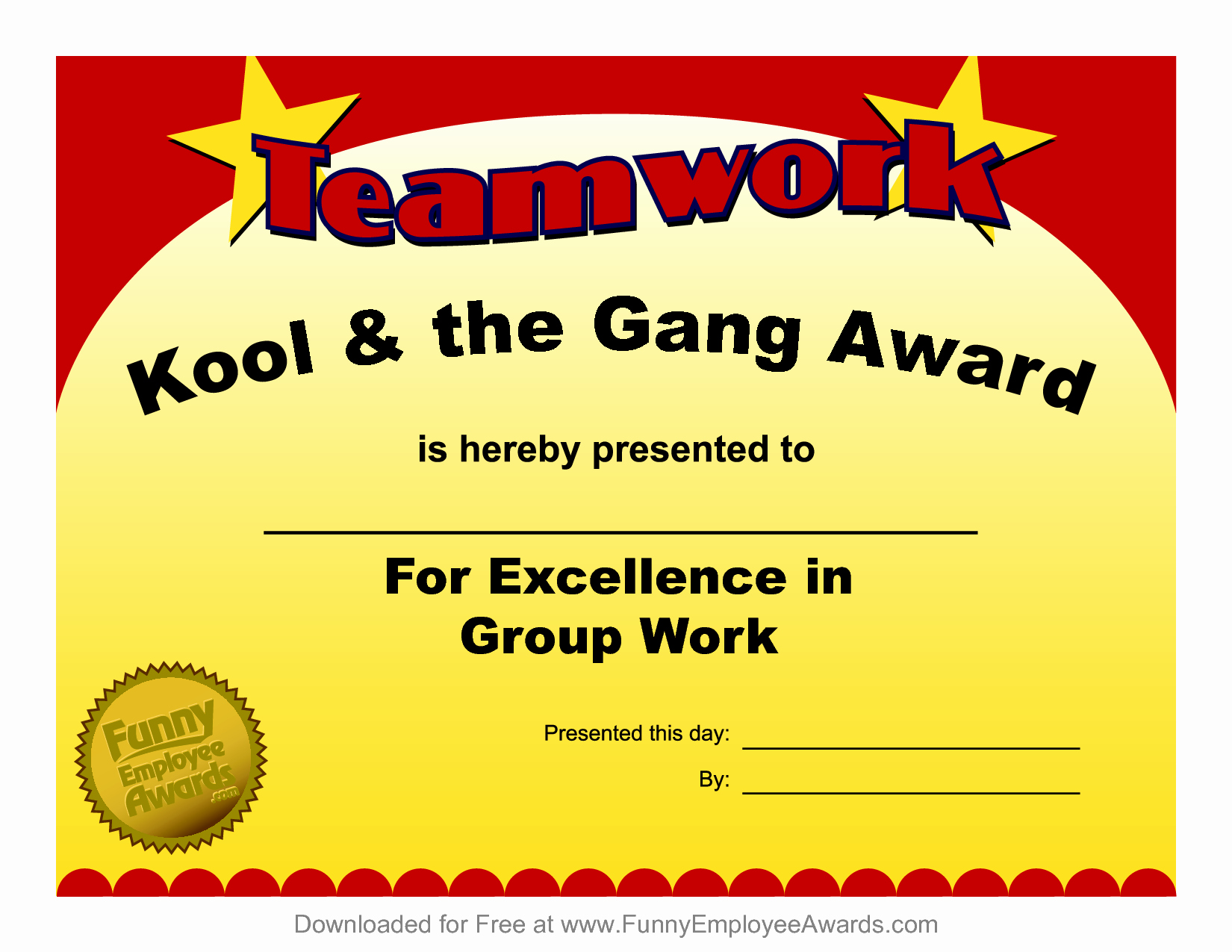 Fun Student Awards Categories Awesome Fun Award Templatefree Employee Award Certificate