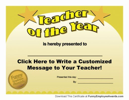 Fun Student Awards Categories Best Of Funny Teacher Awards