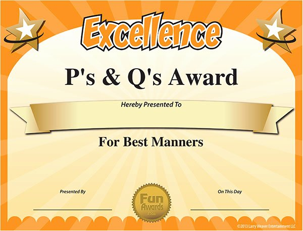 Fun Student Awards Categories Luxury Free Printable Certificates Funny Printable Certificates