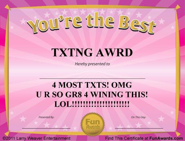Funny Award Categories for Teachers Luxury Funny Award Certificates – 101 Funny Awards to Give