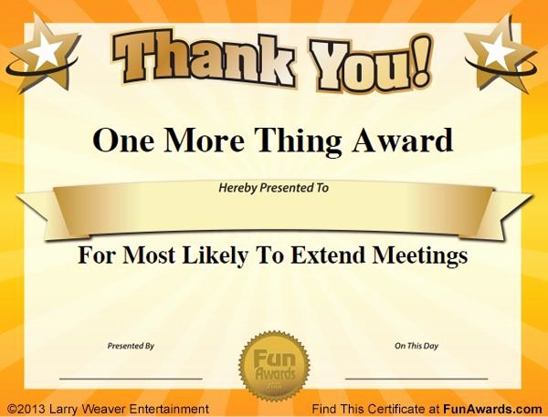 Funny Award Categories for Teachers Unique Silly Fice Awards
