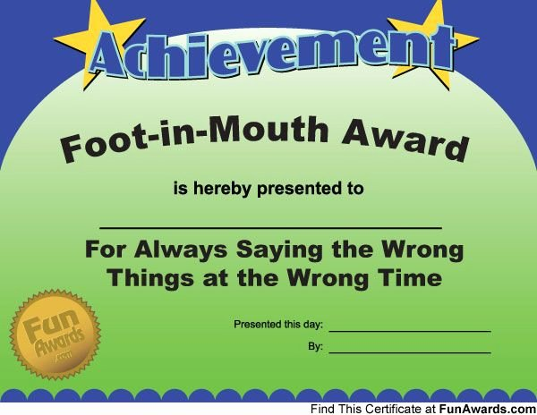 Funny Awards for Kids Fresh Hmmm I M Trying to E Up with A Candidate for This One