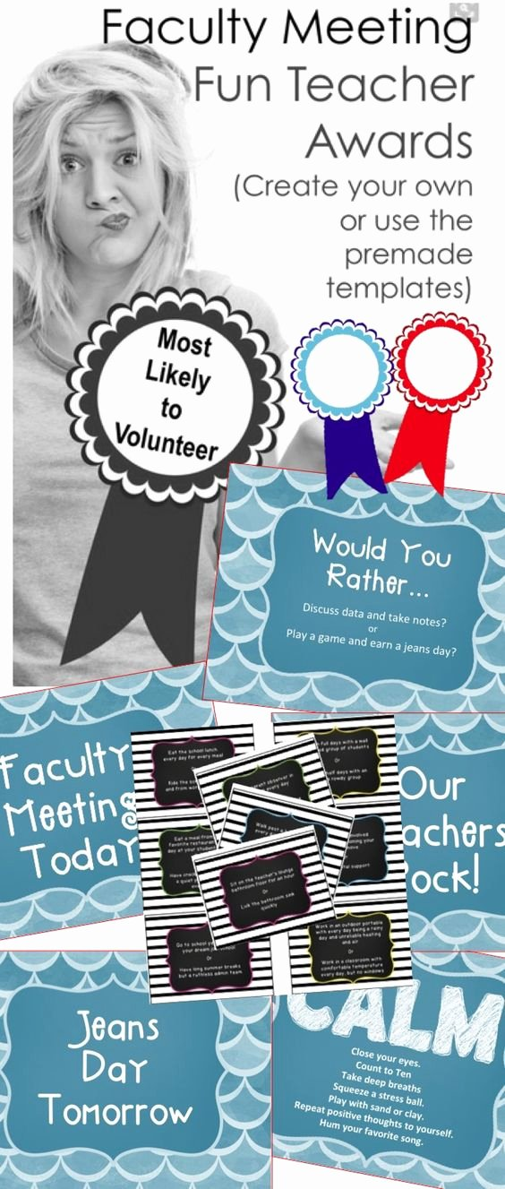 "Funny Awards for Teachers Beautiful Teacher Morale Game ""would You Rather"" Plus Awards"
