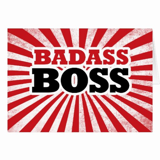 Funny Boss Day Pictures Awesome Badass Funny Boss Card