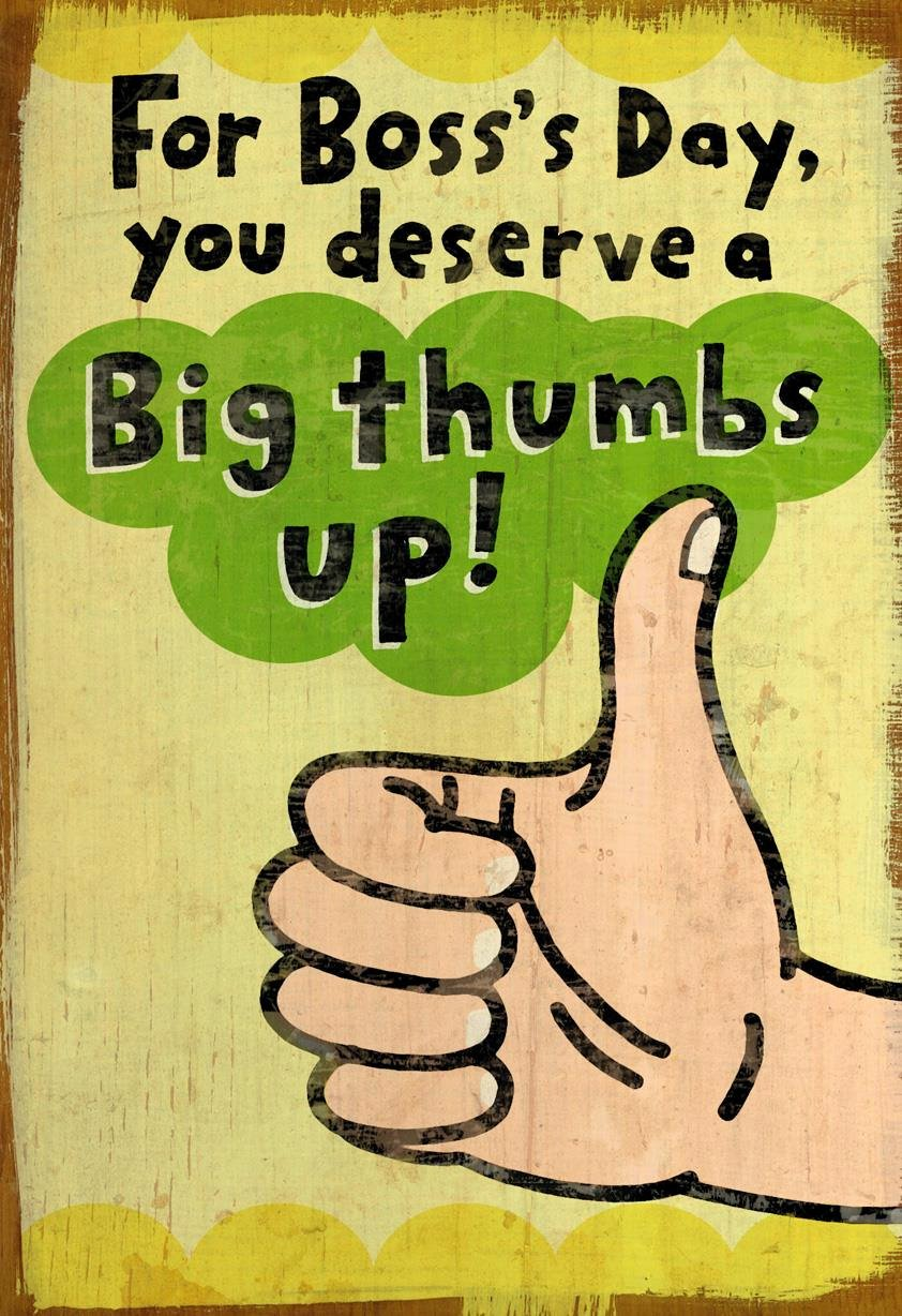 Funny Boss Day Pictures Awesome Big Thumbs Up Funny Boss S Day Card Greeting Cards